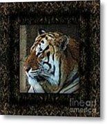 Sq Tiger Profile 6k X 6k Bboo Matt Metal Print