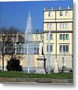 Square And Statues Metal Print