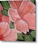 Square Foot Hibiscus Metal Print