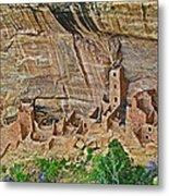 Square Tower House On Chapin Mesa Top Loop Road In Mesa Verde National Park-colorado Metal Print
