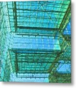 Squares And Triangles Metal Print