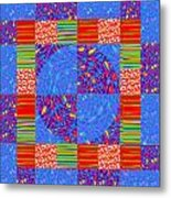 Squares Lines Dots Symbol Infinity Red Purple Blue Green Colorful Waves Unique Background Designs  A Metal Print