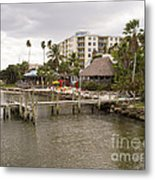 Squid Lips Restaurant  At The Eau Gallie Causeway Over The India Metal Print