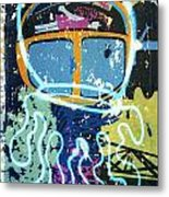 Squid On The Loose Metal Print