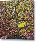 Squiggling In The Wind Metal Print