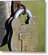 Squire Brass Lock Metal Print