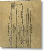 Squire Whipple Truss Bridge Patent Metal Print