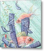 Squirrel Fish Reef Metal Print