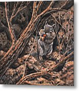 Squirrel-ly Metal Print