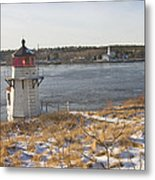 Squirrel Point Lighthouse Kennebec River Maine Metal Print by Keith Webber Jr