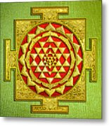 Sri Gold Yantra Metal Print