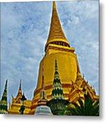 Sri Lanka Pagoda At Grand Palace Of Thailand In Bangkok Metal Print