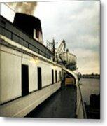 S.s. Badger Car Ferry Metal Print