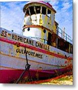 Ss Hurricane Camille Tugboat Metal Print