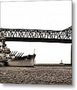 Uss Massachusetts 0001 Metal Print