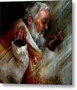 Ss Padre Pio At Matins Metal Print