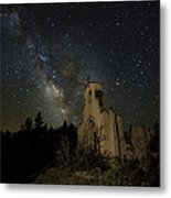 St Aloysius Ruin And The Milky Way Metal Print