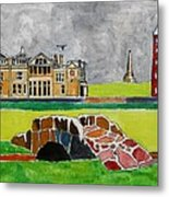St Andrews Swilcan Bridge Metal Print