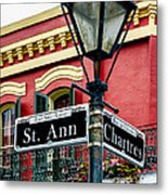 St. Ann And Chartres Nola  Metal Print