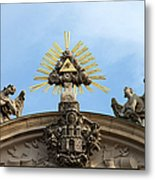 St Anne's Church In Budapest Architectural Details Metal Print