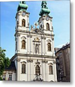 St Anne's Church In Budapest Metal Print
