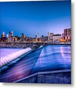 St. Anthony Falls In Minneapolis Metal Print