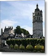 St. Antoine Tower And The Chateau De Loches Metal Print