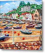 St Aubin's Harbour - Jersey Metal Print