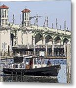 St Augustine Bridge View Metal Print