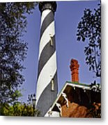 St Augustine Lighthouse - Old Florida Charm Metal Print by Christine Till