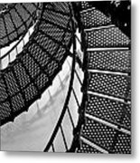 St. Augustine Lighthouse Steps Metal Print