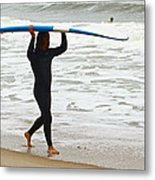St Augustine Surfer Four Metal Print