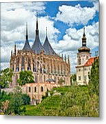 St Barbara Church Kutna Hora Metal Print