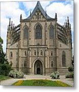 St Barbaras Cathedral Kutna Hora Czech Republic Metal Print