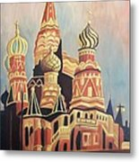 St Basil's Cathedral Moscow Metal Print by Suzanne  Marie Leclair