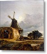 St Benets Abbey And Mill, Norfolk, 1833 Metal Print