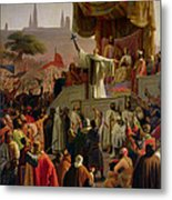 St Bernard Preaching The Second Crusade In Vezelay Metal Print