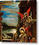 St Cecilia The Angels Announcing Her Coming Martyrdom Metal Print by Gustave Moreau