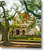 St. Charles Ave. Mansion Paint Metal Print