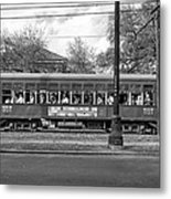 St. Charles Ave. Streetcar Monochrome Metal Print