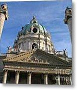 St Charles Church Vienna Austria Metal Print