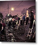 St Charles Night Parade Metal Print by Ray Devlin