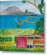 St. Eustatis From St. Kitts Metal Print