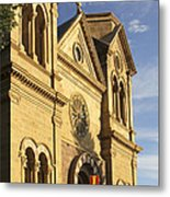 St. Francis Cathedral - Santa Fe Metal Print by Mike McGlothlen