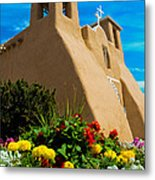 St Francis D'asis Mission Church. Taos New Mexico Metal Print