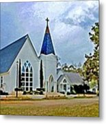 St. Francis Front Cropped 2 Metal Print