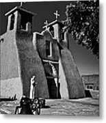 St Francis In Black And White Metal Print