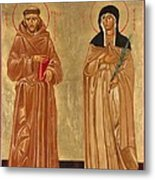St. Francis Of Assisi And St. Clare Metal Print