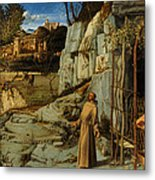 St Francis Of Assisi In The Desert Metal Print
