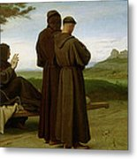 Saint Francis Of Assisi, While Being Carried To His Final Resting Place At Saint-marie-des-anges Metal Print